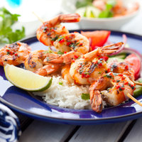 Garlic and Chilli Prawn Skewers