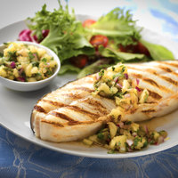 Baked Halibut with Apple Chutney