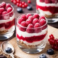 Mini Raspberry Trifle