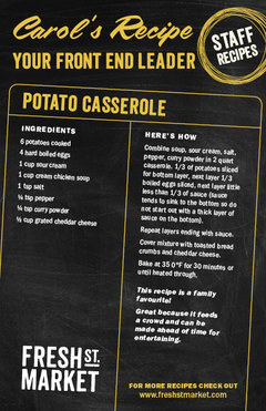 Carol's Recipe: Potato Casserole