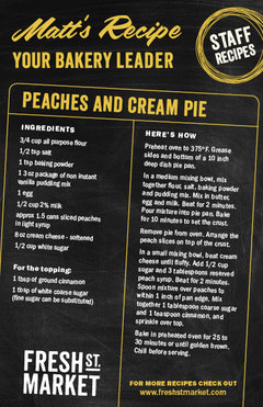 Matt's Recipe: Peaches and Cream Pie