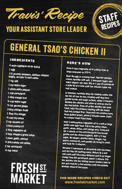 Travis' Recipe: General Tsao's Chicken II