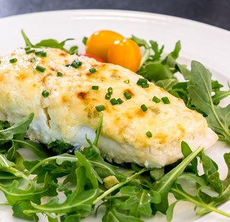Baked Halibut with a Lime-Mayo Crust