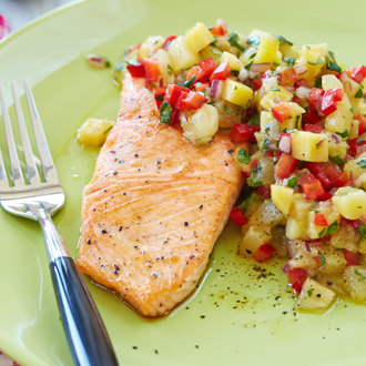 Arctic Char with Pineapple Salsa