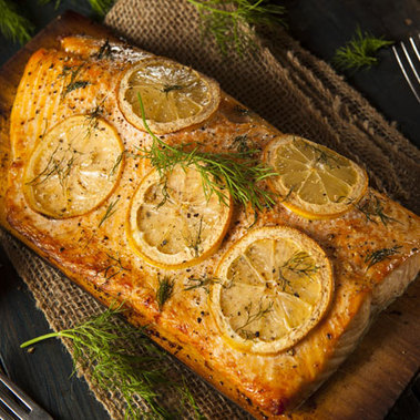 Lemon-Salted Grilled Salmon