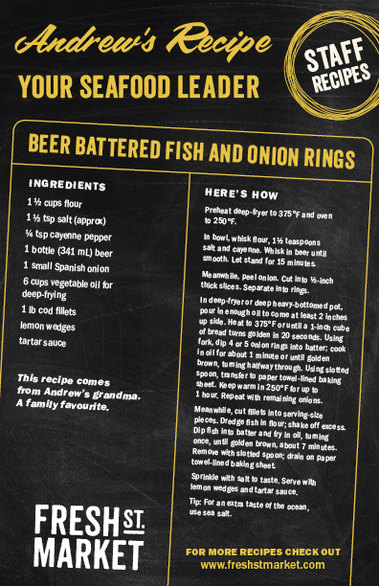 Andrew's recipe: Beer Battered Fish and Onion Rings